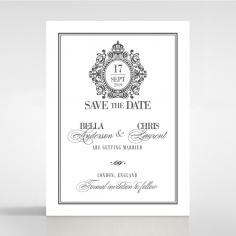 Golden Baroque Gates wedding stationery save the date card design