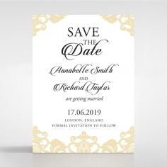 Golden Baroque Pocket save the date stationery card design