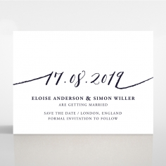 Infinity save the date invitation stationery card design
