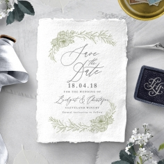 Love Estate wedding stationery save the date card item