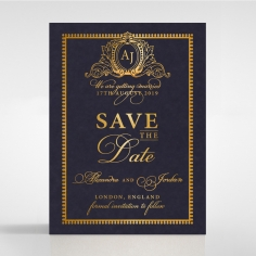 Lux Royal Lace with Foil save the date invitation card