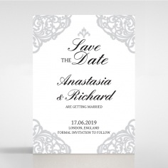 Modern Vintage save the date invitation stationery card