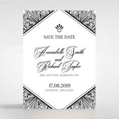 Paper Ace of Spades save the date card