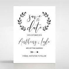 Paper Chic Rustic wedding stationery save the date card item