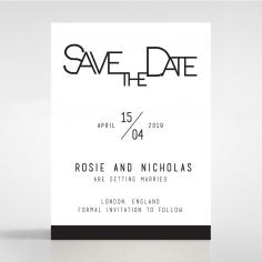Paper Minimalist Love save the date invitation card