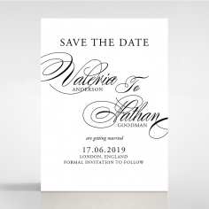 Paper Timeless Romance save the date wedding stationery card item