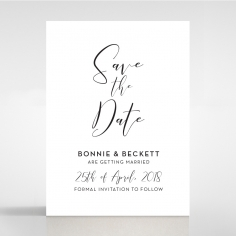 Paper Timeless Simplicity save the date wedding card design