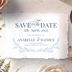 Romantic Soiree save the date invitation card design