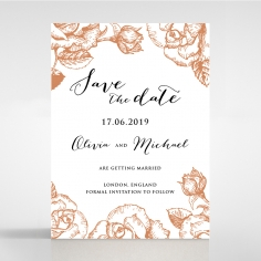 Rose Romance Letterpress save the date stationery card design