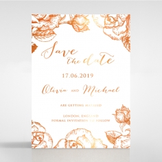 Rose Romance Letterpress with foil save the date invitation stationery card design