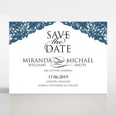 Royal Prestige save the date invitation stationery card design