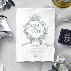 Royalty with Deckled Edges save the date card