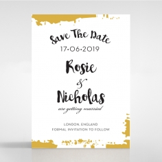 Rusted Charm save the date stationery card design