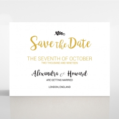 Rustic Lustre wedding stationery save the date card item
