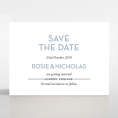 Silver Chic Charm Paper wedding save the date stationery card item