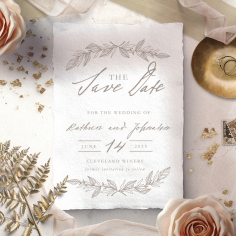 Simple Charm save the date wedding card