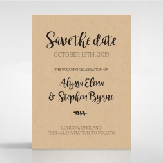 Sweetly Rustic save the date invitation card design