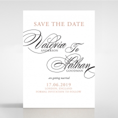 Timeless Romance save the date stationery card design