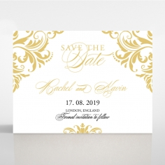 Victorian Extravagance save the date wedding stationery card