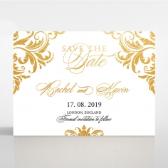 Victorian Extravagance with Foil save the date wedding card design