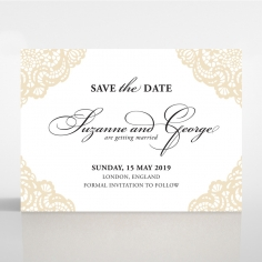 Vintage Prestige save the date card design
