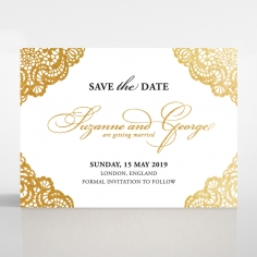 Vintage Prestige with Foil save the date stationery card
