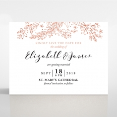 Whimsical Garland save the date wedding stationery card item