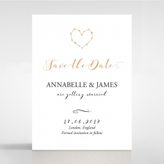 Written In The Stars - Navy wedding save the date card
