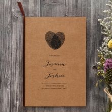 Simply Rustic Wedding invitation in Brown PWI115085
