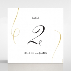 A Polished Affair table number card