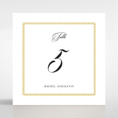 Black Doily Elegance wedding venue table number card