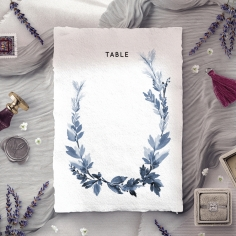 Blue Forest wedding venue table number card