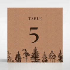 Delightful Forest Romance wedding reception table number card stationery item