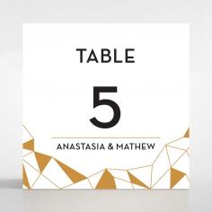 Digital Love wedding table number card