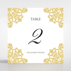 Divine Damask table number card
