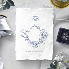 Enchanted garden wedding venue table number card
