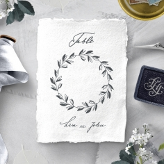 Everlasting Devotion reception table number card stationery design