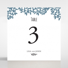 Forest Love wedding venue table number card
