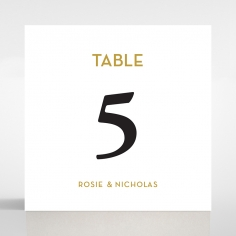 Frosted Chic Charm Paper wedding venue table number card design