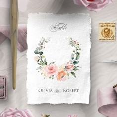 Garden Party wedding stationery table number card
