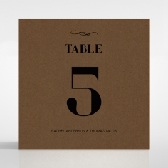 Gilded Stroke wedding stationery table number card