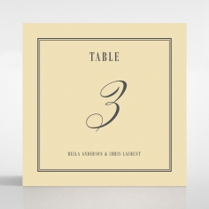 Golden Baroque Gates table number card stationery item