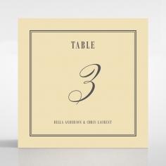Golden Baroque Gates table number card stationery item