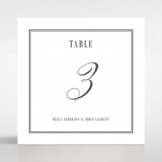 Golden Baroque Gates wedding table number card