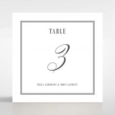 Golden Baroque Gates wedding table number card