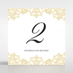 Golden Baroque Pocket wedding venue table number card stationery item
