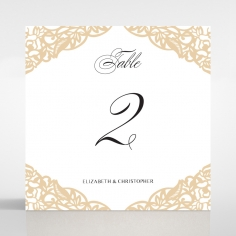 Golden Floral Lux reception table number card