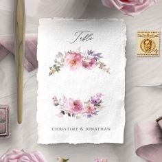 Happily Ever After wedding stationery table number card design