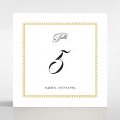 Ivory Doily Elegance wedding reception table number card stationery item