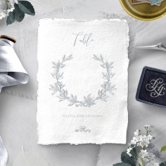 Leafy Wreath wedding reception table number card stationery item